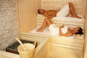 man-woman-sauna