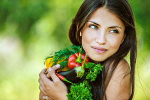 woman-with-vegetables-vegan