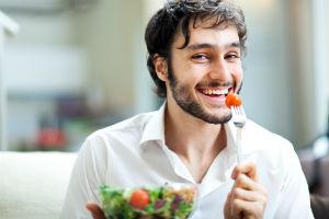 man-vegetarian