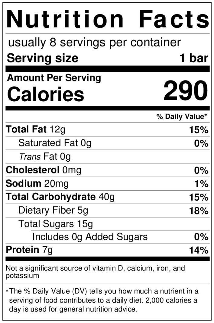 oat-bar-nutrition