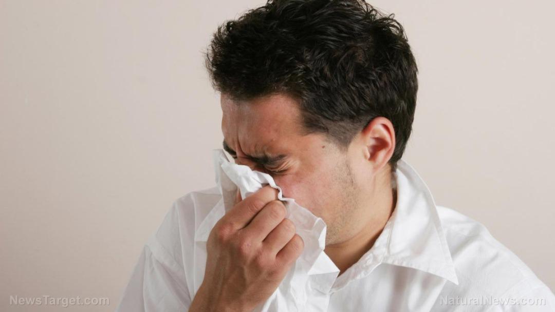 Man-Sneeze-Tissue-Sick-Flu