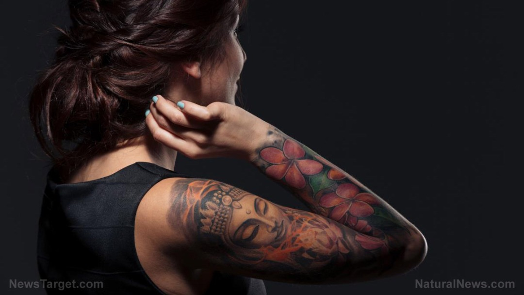 Back-View-Pretty-Young-Woman-Tattooed