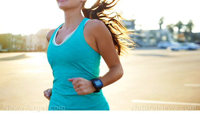 Woman-Running-Tank-Top-Sports-Watch-Fitness-Exercise