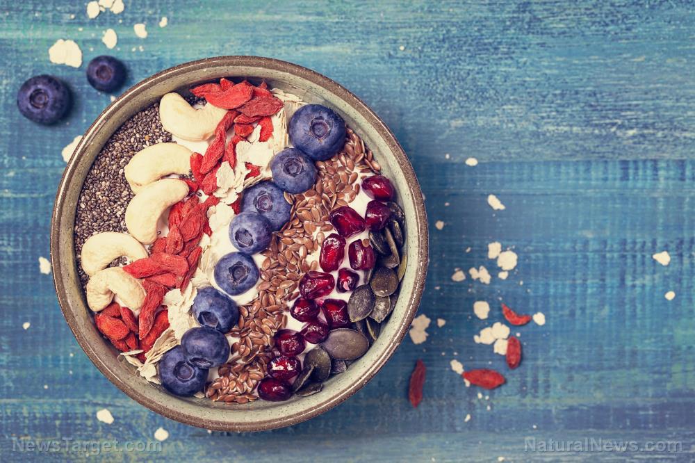 Yoghurt-Berry-Bowl-Chia-Breakfast-Goji-Greek
