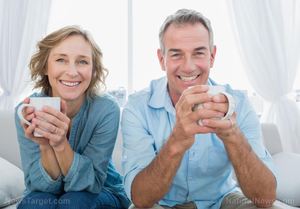 Couple-Woman-Coffee-Happy-Tea-Home-House