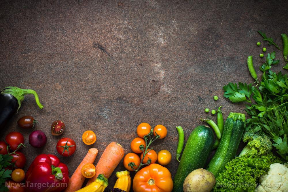 Organic-Farmer-Vegetables-Dark-Slate-Table-Vegan-Food