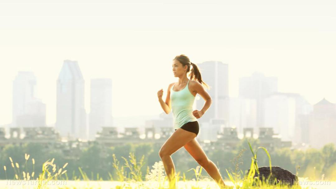 Running-City-Park-Woman-Runner-Outside