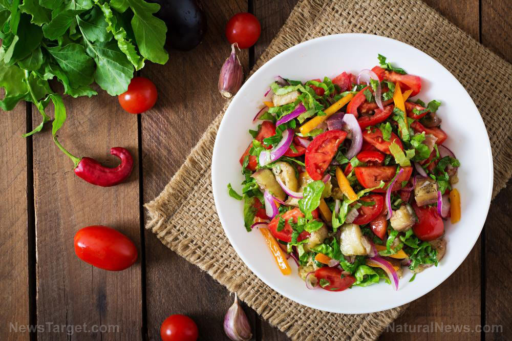 Salad-Vegetable-Top-Food-View-Vegetarian-Plate