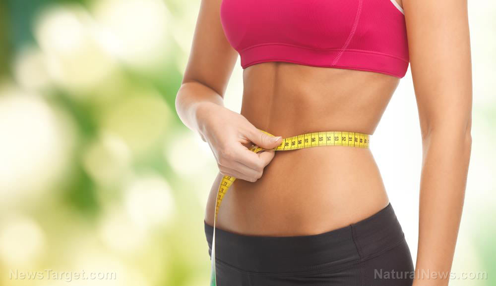 Weight-Loss-Diet-Woman-Body-Tape-Care