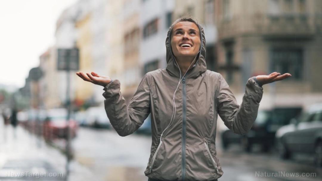 Woman-Running-Exercise-Rain-Jacket-Weather