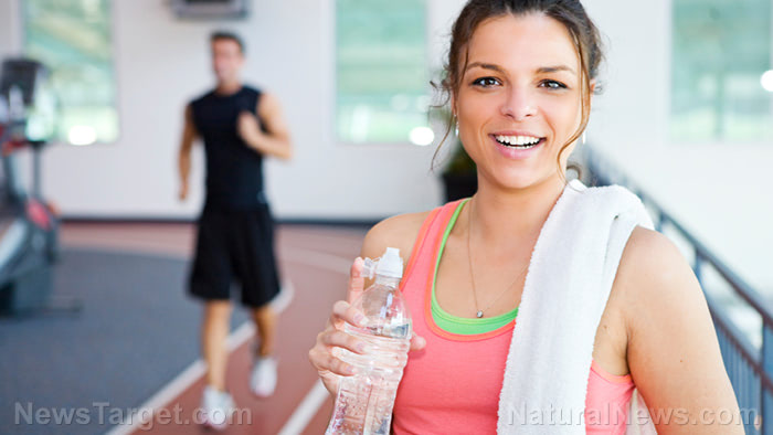 Woman-Working-Out-Resting-Gym-Happy-Fit-Exercise