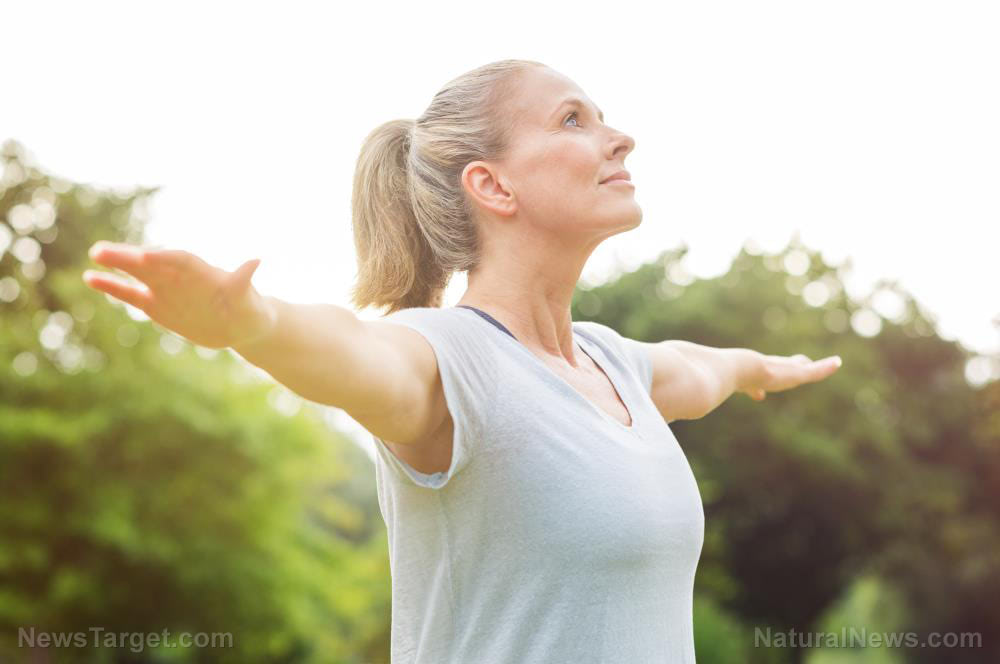 Breath-Yoga-Mature-Exercise-Healthy-Park-Stretch