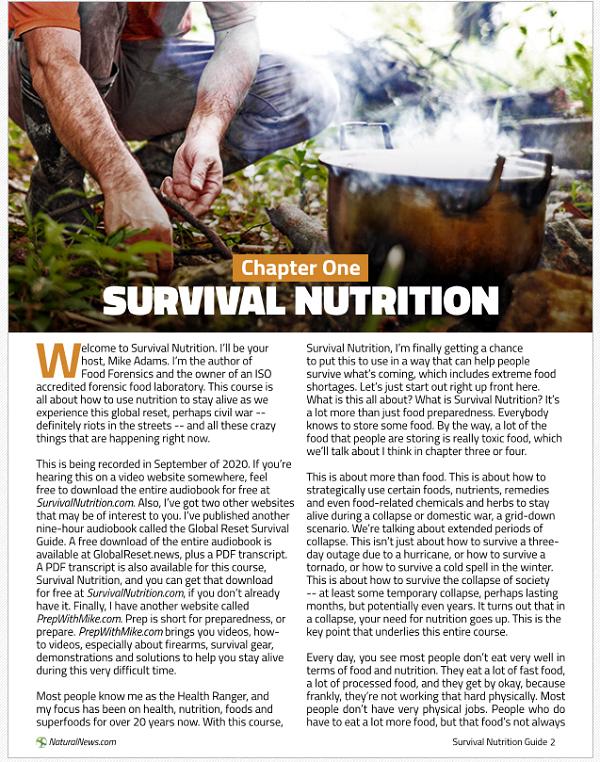 survival nutrition