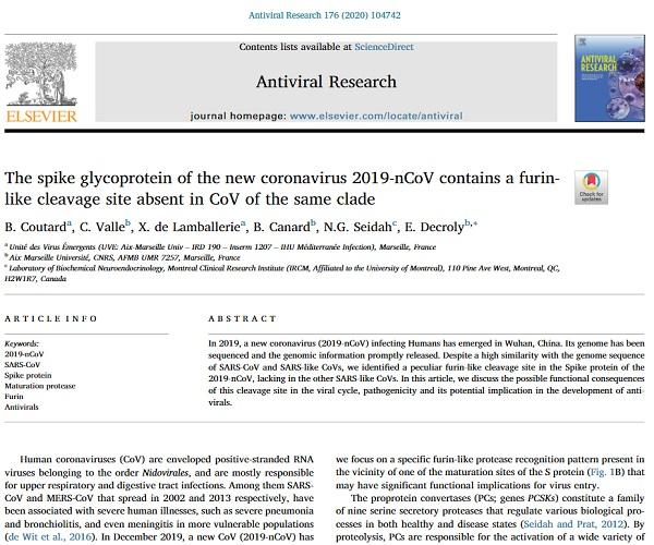antiviral research study
