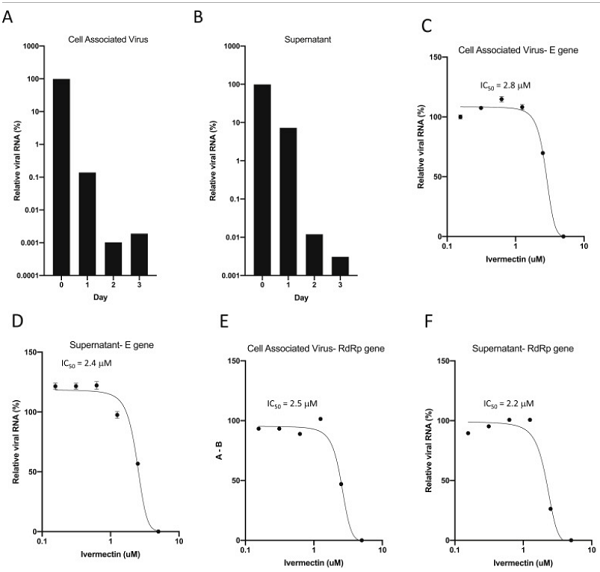 ivermectin coronavirus viral replication study