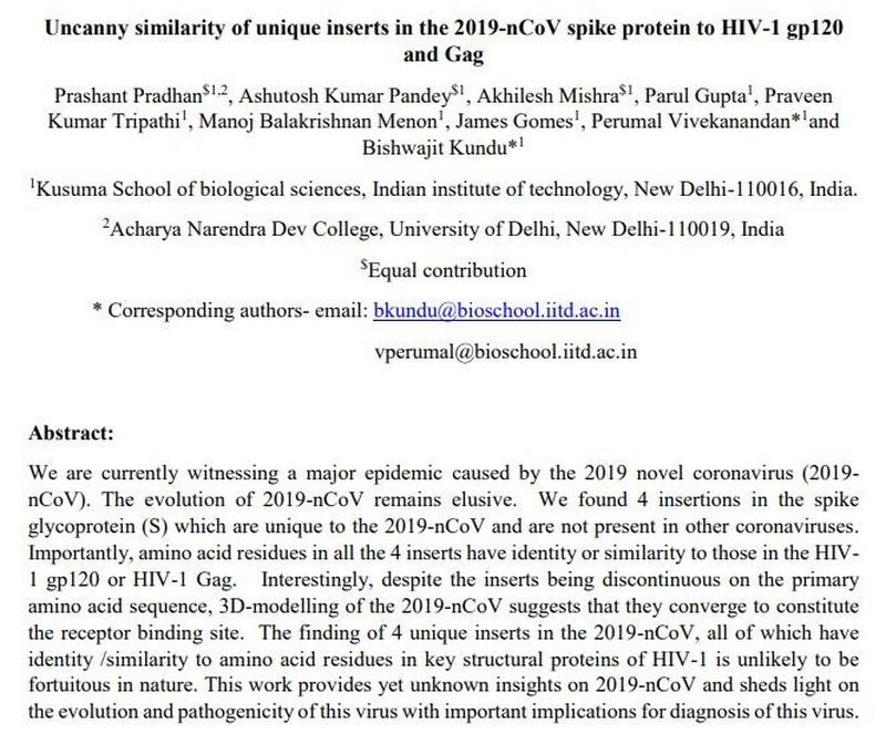 Amidst the outbreak, a team of Indian bioinformatics specialists at Delhi University released a paper pre-print…