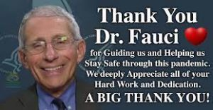 Thank you Dr. Fauci