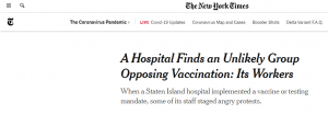 Enormous Percentages of Healthcare Workers Refuse 'Vaccines'