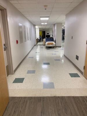 HOSPITAL SHUT DOWN ICU FLOORS, DRAMATICALLY REDUCING CAPACITY