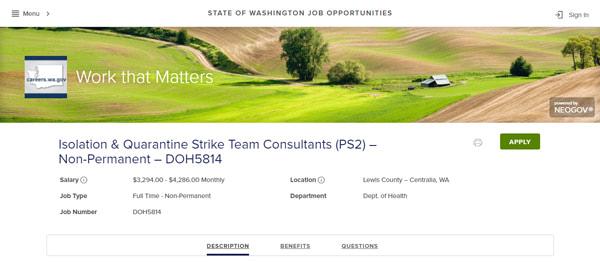 State of Washington Job Opportunities Strike-Team
