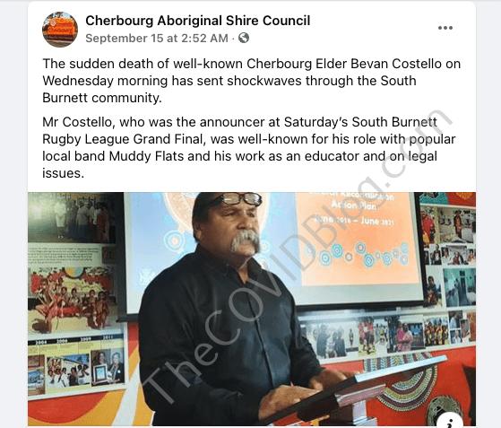 Cherbourg Tribal Council FB1 Bevan