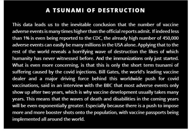 A Tsunami of Destruction